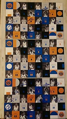 Lot of Three (Two Signed by Entire Team) New York Knicks Photos