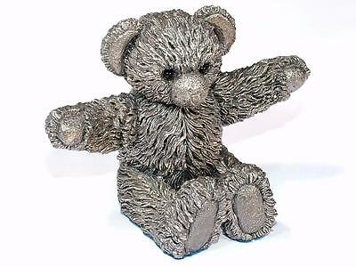 "Very Fine Quality Hallmarked Sterling Silver Model Of A Teddy Bear ""ca"""