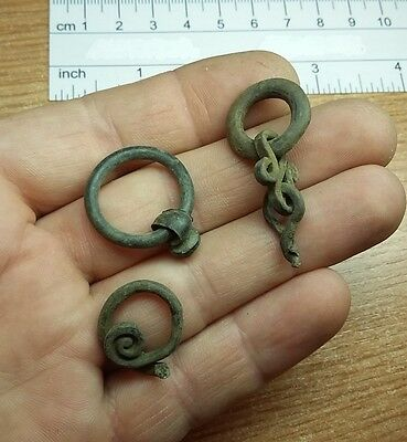 3 pcs. Authentic bronze Roman  Decoration     #2308