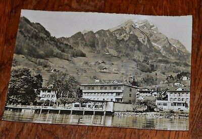 Postcard Real Photograph Belvedere Hotel Hergiswil Switzerland Picture