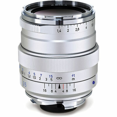 Zeiss Leica M-Mount 35mm f/1.4 Distagon T* ZM Lens Silver NEW