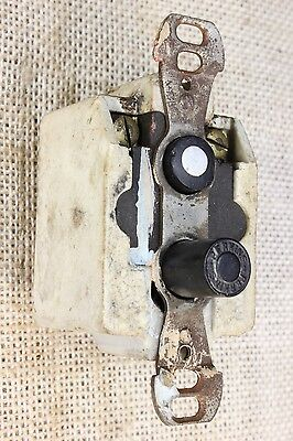 Push Button Light wall Switch tested old vintage Aluminum on button 2 wire