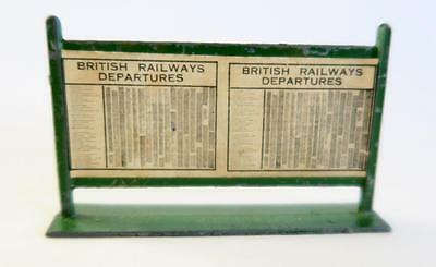 Vintage O Gauge Hornby ? Railways Station Platform Br Departures Board Timetable