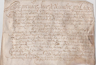 Wow 1649 Vellum From France 367 Years Old Original Document