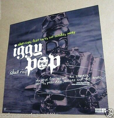 IGGY POP 2003 Skull Ring Promo Album Flat Poster