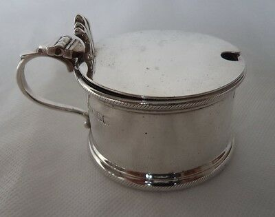 Scottish Glasgow 1933  Sterling / Solid Silver Mustard Pot