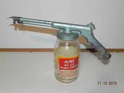 Vintage ACME Big six Foliage Glass sprayer