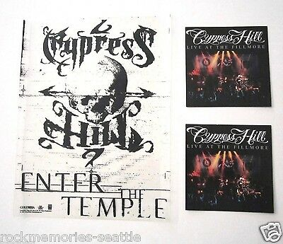 CYPRESS HILL Lot Promo Stickers / Decals And Static Cling