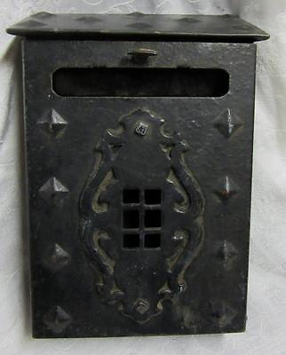 OLD ARTS & CRAFTS CAST IRON MAIL BOX  For HOME USE or DECOR    Very Nice Antique
