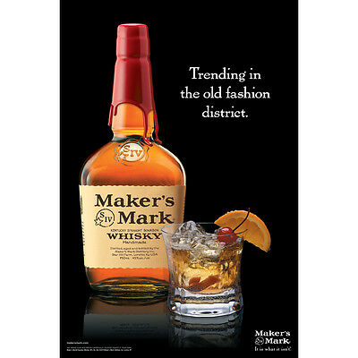 """Makers Mark  """"old Fashion""""  Poster  24 By 36"""