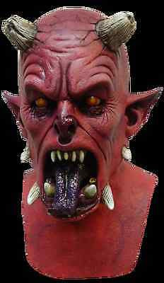 NEW Hell Beast Horned Satan Demon DELUXE ADULT LATEX PIT FIEND DEVIL MASK