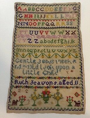 Ruth Jeavons Williams 1849 Sampler @ 11 Years Old