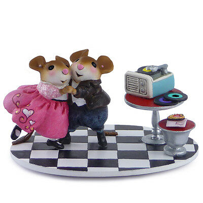SWEETHEART SPIN by Wee Forest Folk, WFF# M-460a, Dancing 50's Valentine LTD Mice
