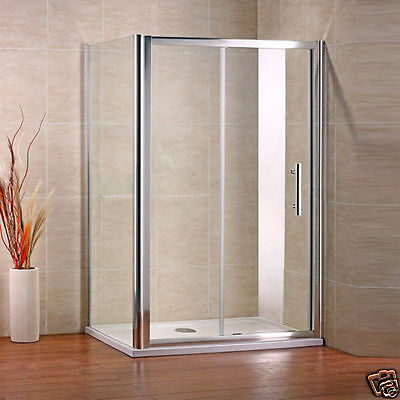 1200x760 Sliding Shower Enclosure and Side Panel 6mm NANO Walk In Door Cubicle