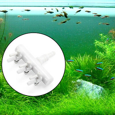 5pcs Splitter Collecteur pour Aquarium Poisson 3 Voies Blanc