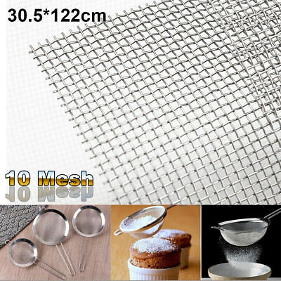 316 Stainless Steel 10 Mesh Wire Cloth Woven Screen Filtration Filter 12''x48''