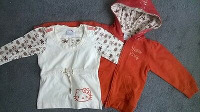 Hello Kitty by Sanrio Hooded Jacket with Contrasting Top ~ Size 2-3 Years