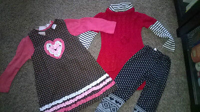 2 Sets of Outfits - Nannette Girl & Young Hearts - Age 2T (2 Years)
