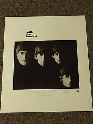 The Beatles With The Beatles Plate Signed Litho Lithograph Poster LE Numbered