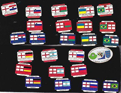 Collection of 10 Different England Match Badges