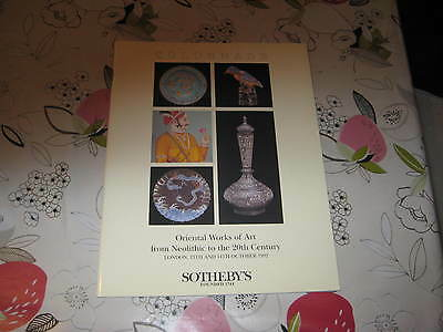 Sotheby's Catalogue Oct92 Oriental Art Neolithic To 20Th Century Ad