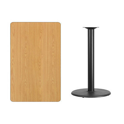 Indoor 30'' x 48'' Rectangular Laminate Table Top with 24'' Round Bar Height