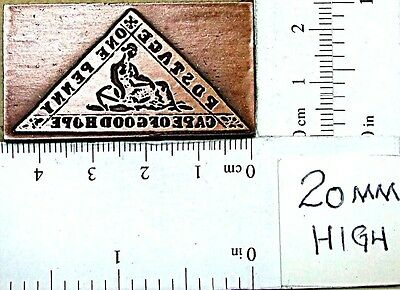 """CAPE OF GOOD HOPE"" Postage Stamp  Printing Block."