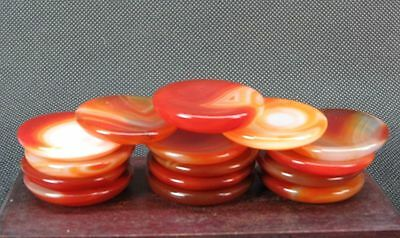 Chinese Five Red Agate Snuff Bottle Dishes