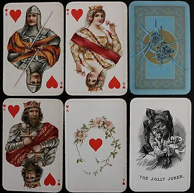 Bernhard Dondorf German Playing Cards LUXUS CLUB KARTE 51+J No.184 Whist c1900