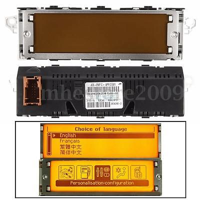 12 Pin Multifunction Radio CD AUX MP3 LCD Display Screen Yellow For Peugeot 407