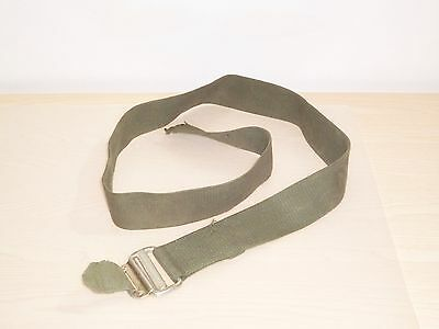 British Army-Issue Olive-Green Canvas Roll Pin Belt. Medium Size.