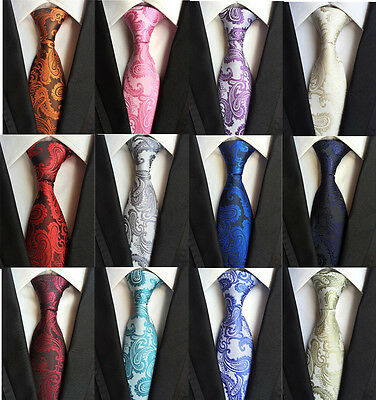 Fashion Mens Silk Tie Necktie Wedding JACQUARD WOVEN Tie Party Best Man gift