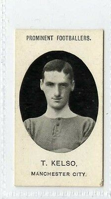 (Gx545-457) Taddy, Prominent Footballers, T.Kelso, Manchester City 1908 VG, Trim