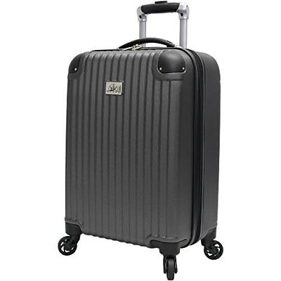 "NEW Verdi 21"" Hardside Spinner Carry-on - Charcoal"