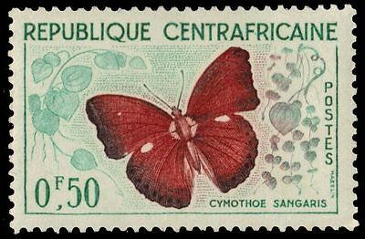 """CENTRAL AFRICAN REPUBLIC 4 - """"Cymothoe sangaris"""" Butterfly (pa37216)"""