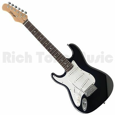 Stagg S300 3/4 LH BK Standard Left Handed Electric Guitar - Black