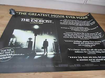 THE EXORCIST (1998 re-release) Quad Movie Poster - Reviews Version 27x40