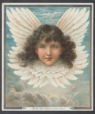 C11437 Good Victorian Tuck Prize Xmas Card: Angel Head, Rebecca Coleman