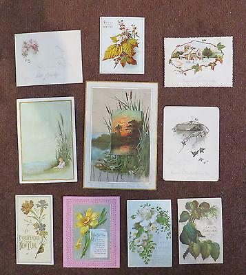 C11447 10 Victorian Xmas Cards: Mixed Subjects