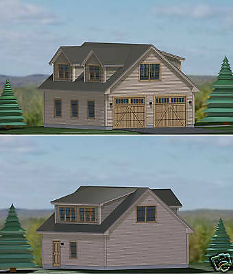 Garage Plans Blueprints 28 Ft  X  28Ft,  With Dormers