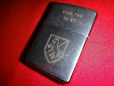 "Nam War Yr 1966 Zippo Lighter ""VUNG TAU 66-67"", US 11th ARMORED CAVALRY REGIMENT"