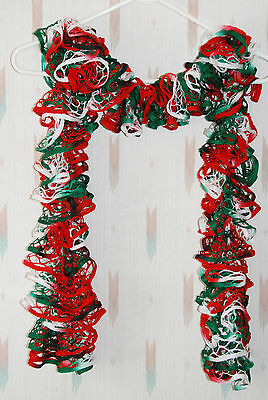 Christmas Ruffle & Frill Fashion & Trendy Scarf / Starbella / Red Green & White