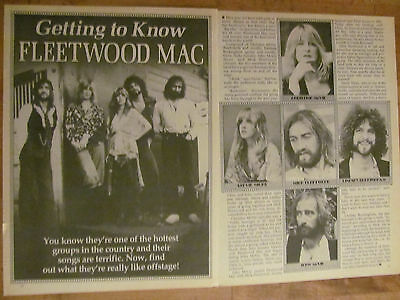 Fleetwood Mac, Two Page Vintage Clipping