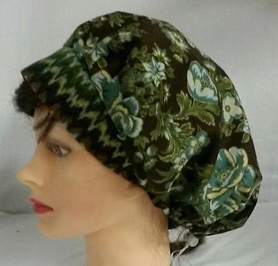Soap Making Hat Scrub Cap Surgical Hat USA Handmade Ready-Made Green Gold Brown