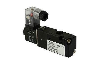 "NEW 24V AC Solenoid Air Pneumatic Control Valve 3 Port 3 Way 2 Position 1/8"" NPT"