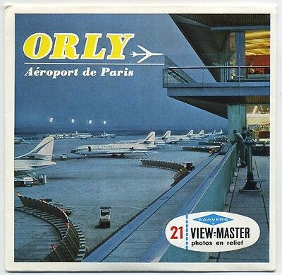 ORLY Airport Aeroport de Paris RARE View-Master Packet C-200-F French Edition