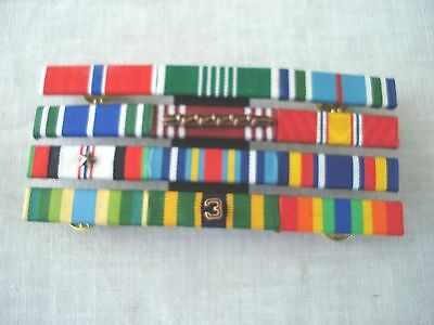 Us Army First Sergeant Mounted 12 Service Ribbon Bar Insignia