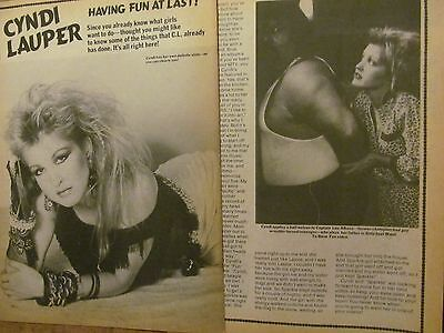 Cyndi Lauper, Two Page Vintage Clipping