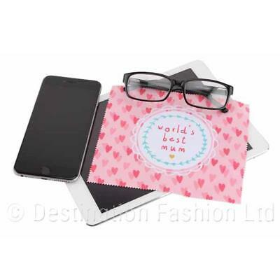 World's Best Mum Microfibre Cleaning Cloth Reusable Lens Computer Screen Glasses