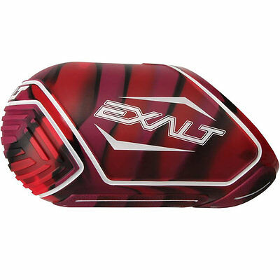 Exalt Tank Cover - Medium Fits 68/70/72ci - Red Swirl - Paintball